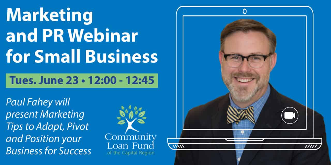 Marketing and PR Webinar for Small Businesses with Paul Fahey