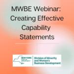 MWBE Webinar: Creating Effective Capability Statements